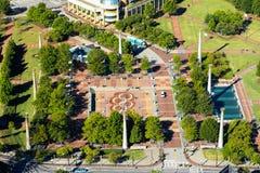 奥林匹克百年公园,街市亚特兰大, GA 免版税库存图片