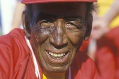 奥林匹克的前辈的一个非洲裔美国人的公民 库存照片