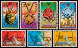 奥林匹克的奖牌 免版税库存照片