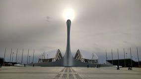 奥林匹克的火焰 免版税库存照片