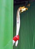 奥林匹克继电器火炬 库存图片