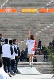 奥林匹克继电器火炬 免版税库存图片