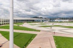 奥林匹克设施大厦在奥林匹克公园在索契,俄罗斯 免版税库存图片