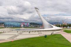 奥林匹克设施大厦在奥林匹克公园在索契,俄罗斯 库存照片