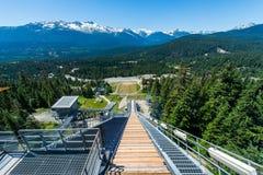 奥林匹克跳高滑雪风景-温哥华,加拿大 免版税库存照片