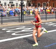 奥林匹克马拉松 免版税库存照片
