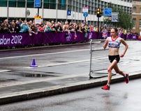 奥林匹克马拉松 库存照片