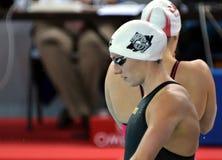奥林匹克,世界和欧洲冠军,世界纪录持有人游泳者Katinka HOSSZU匈奴 免版税库存图片