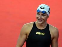 奥林匹克,世界和欧洲冠军,世界纪录持有人游泳者Katinka HOSSZU匈奴 库存照片