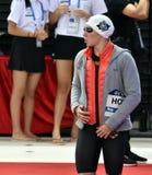 奥林匹克,世界和欧洲冠军,世界纪录持有人游泳者Katinka HOSSZU匈奴 免版税图库摄影