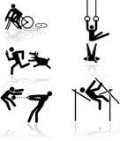 奥林匹克1比赛的幽默 免版税图库摄影