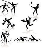 奥林匹克2场比赛的幽默 免版税库存照片