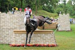 奥林匹克2008个骑马的活动 免版税库存照片