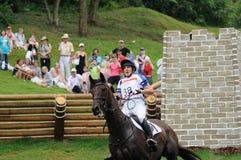 奥林匹克2008个骑马的活动 库存照片