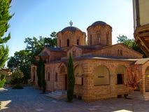 奥林匹斯山的圣徒Dionysios圣洁家长式修道院在皮耶拉省专区在希腊 免版税库存照片