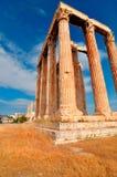 奥林山宙斯寺庙  库存图片