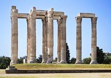 奥林山宙斯希腊寺庙  免版税库存图片