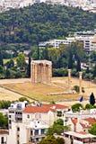 奥林山宙斯的寺庙在雅典 免版税库存照片
