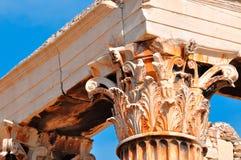 奥林山宙斯,接近的看法寺庙  图库摄影