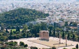 奥林山宙斯,雅典希腊寺庙  免版税库存照片