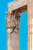奥林山宙斯,破裂的专栏寺庙  库存图片