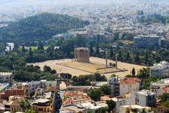 奥林山宙斯-雅典寺庙  库存图片