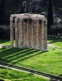奥林山寺庙宙斯 免版税库存图片