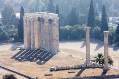 奥林山寺庙宙斯 库存图片