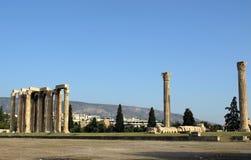 奥林山寺庙宙斯 库存照片