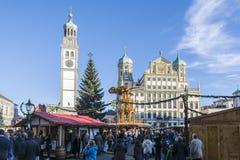 奥格斯堡圣诞节市场 库存照片