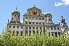 奥格斯堡城镇厅  免版税库存照片