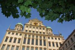 奥格斯堡大厅城镇 库存图片