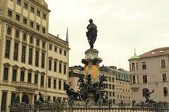 奥格斯堡的历史的中心 库存照片