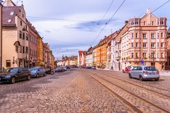 奥格斯堡老城镇 图库摄影