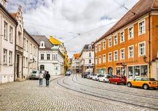 奥格斯堡,德国古镇的中心  图库摄影