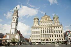 奥格斯堡,德国的市中心 免版税库存图片