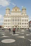 奥格斯堡,德国的市中心 库存图片