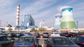 奥波莱,波兰, 2015年9月14日:煤炭植物奥波莱在Brzez 免版税库存照片