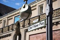 奥洛夫帕尔姆正方形,中央柏林,德国 免版税库存图片