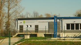 奥洛穆茨,捷克,2018年10月24日:废水和废水处理植物和新新的被建立的过程 影视素材