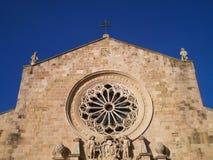 奥特朗托前面大教堂  库存图片