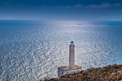奥特朗托海角灯塔在意大利 免版税库存照片