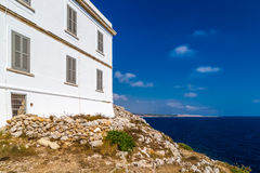 奥特朗托海角灯塔在意大利 库存照片
