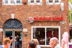 奥登堡,德国- 2017年6月10日:快餐餐馆汉堡王的门面的看法 免版税图库摄影