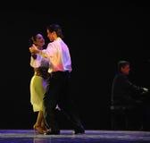 奥秘探戈舞蹈戏曲的身分 免版税库存照片
