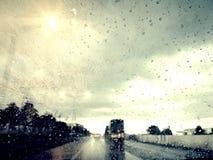 奥秘方式在雨天 免版税图库摄影