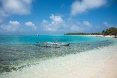 奥秘海岛` s热带岸 库存图片