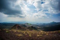 奥秘火山Etna 库存照片