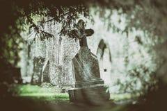 奥秘爱尔兰人公墓 库存照片