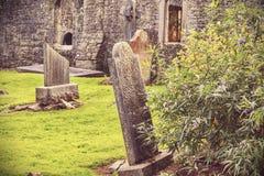 奥秘爱尔兰人公墓 免版税库存照片